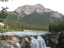 Mount Kerkeslin Seen From Athabasca Falls