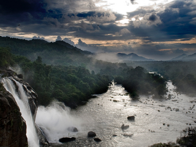 View Of Athirappilly Falls