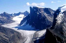 Rock Formations And Glaciers
