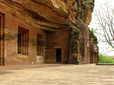 View Of Bagh Caves