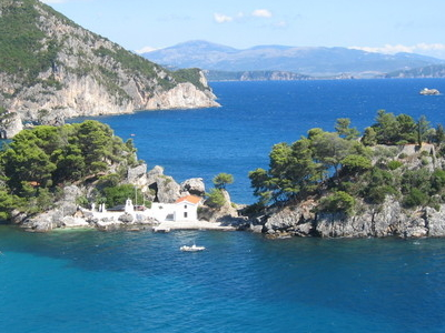 The Island Of Panagia Off The Coast Of Parga