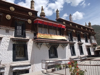 Balcony At Drepung