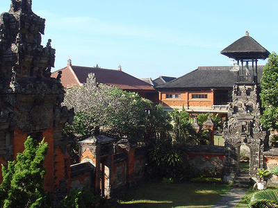 Bali Museum Inside Courtyards And Gates