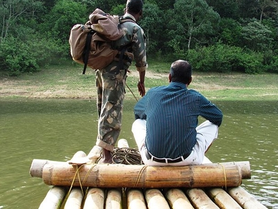 Bamboo Rafting During Guided Tour