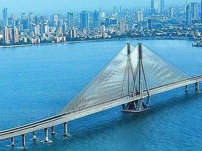 Bandra-Worli Sea Link With Skyline