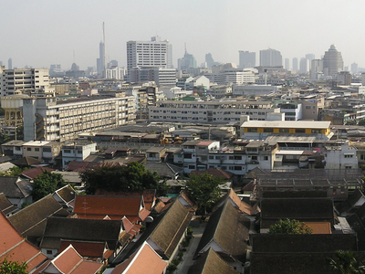 Bangkok View From Golden Temple