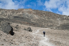 Barafu Huts In Sight - Hiking Mount Kilimanjaro