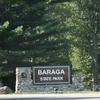Baraga State Park Entrance Sign