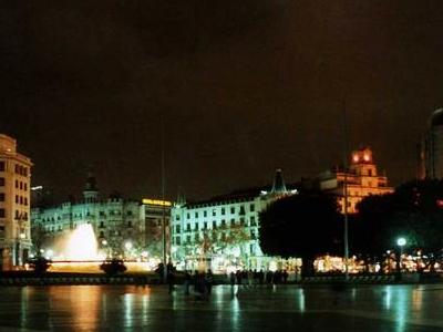 Plaça Catalunya At Night