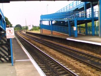Pedestrian Bridge Over Platforms