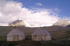 Base Camp By Potaniin Glacier - Tavan Bogd NP