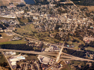Batesville From The Air Looking Southwest