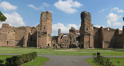 View Of The Baths Of Caracalla