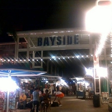 Bayside Sign At Night