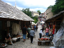 Bazar At Old Bridge In Mostar