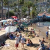Beach Avalon Catalina Island