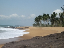Beach With Palms In Ghana