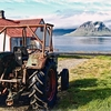 Beaten Tractor At Grundafjörður With Kirkjufell In Backdrop