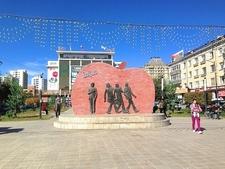 Beatles Monument At Ulaanbaatar
