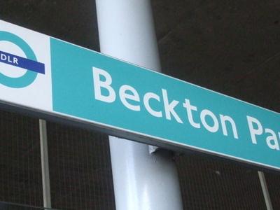 Signage On Westbound Platform