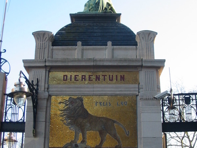 Entrance Gate Of The Antwerp Zoo