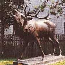 Belling Stag-Bronze Sculpture-Ehrwald Austria