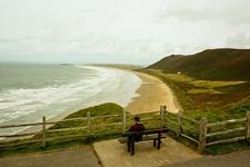 Bench @ Rhossili Bay Cliffs Walk UK Wales