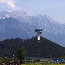 Bergisel, Med Hoppbakken Tronende På Toppen, Sett Fra Sør. Bergisel, With The Ski Jump Crown-Innsbruck, Austria