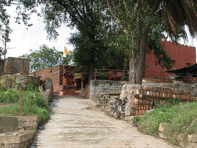 Bhartrhari Cave Cowshed