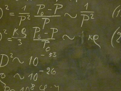Blackboard Used By Albert Einstein