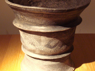 Black Ceramic Jar - Ban Chiang Culture