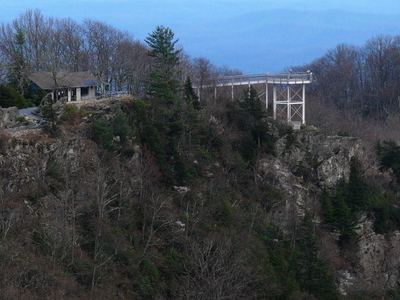 The Observation Deck At The Blowing Rock