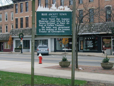 Blue  Jackets  Town  Historical  Marker