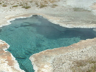 Blue Star Spring Near Old Faithful Geyser