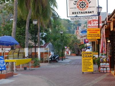 Part Of Paseo Del Pescador Or Boardwalk