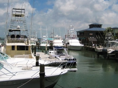 Boat Dock At Port Aransas.