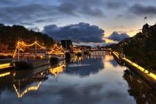 Boats In River Aura - Turku Finland