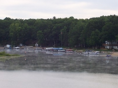 Boats On  Budd  Lake