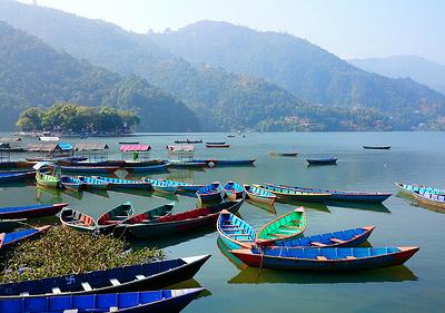 Boats On Phewa Lake - Nepal