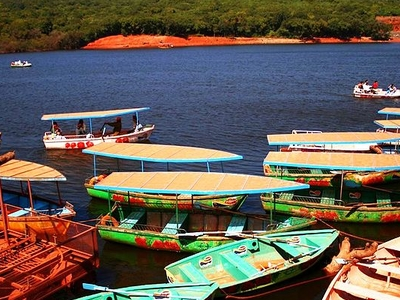 Boats On The Venna Lake In Mahabaleshwar
