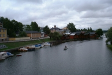 Boats & Porvoo Town In Finland