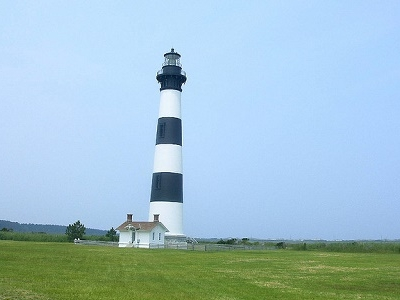 Bodie Island Light Along Oregon Inlet NC Outer Banks