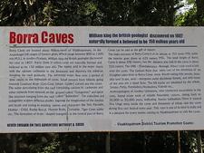 Borra Caves Information Board