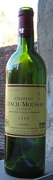 Bottle Of Chateau Lynch Moussas