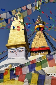 Boudhnath Buddhist Temple In Kathmandu