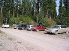 Boulder Pass Trailhead Parking Lot - Glacier - Montana - United States