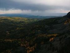 Boulder Top Storm In Distance