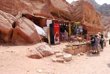Boutique Dans La Rue Des Facades A Petra