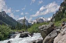 Bradley Lake Trail Views - Grand Tetons - Wyoming - USA