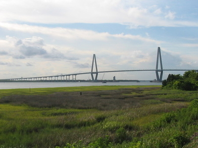 Arthur Ravenel Jr. Bridge View From Patriot's Point